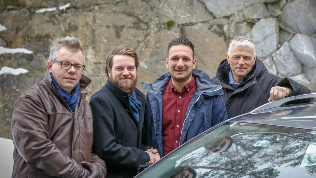 Fv: Trygve Larsen, Odd Erik Skavold Lystad, Daniel Solomonsz og Per Morten Merg