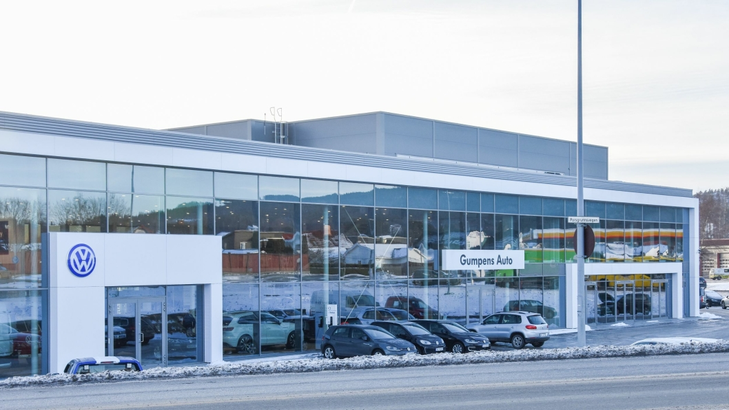"Gumpens Auto Grenland er det nyeste ""gigant-anlegget"" som er bygget i Norge."
