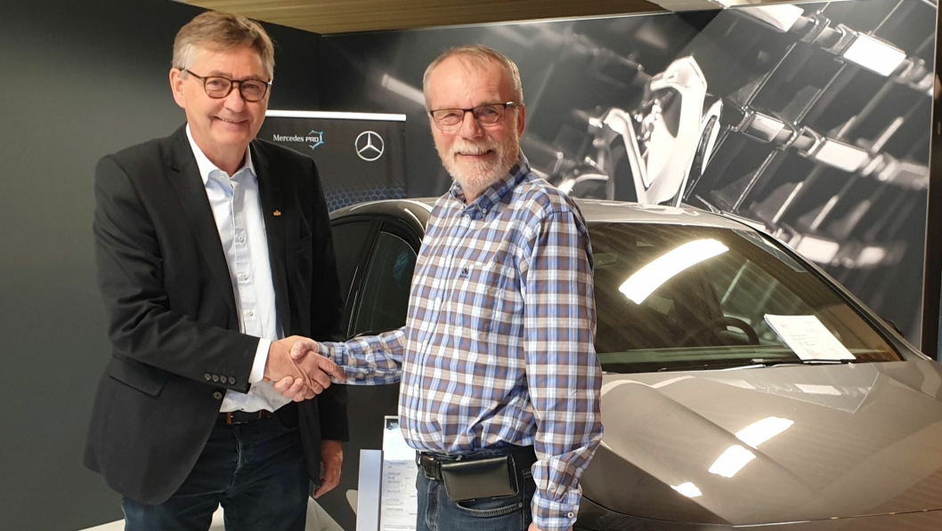 Thor Allan Nordvik og Steffen Nervik er enige om en overtakelse av to Mercedes- og Peugeot-forhandlere på Helgeland.