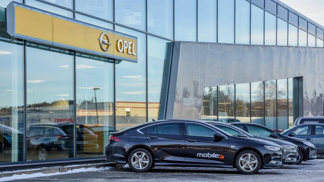 Mobile fester grepet i Opel, her fra anlegget i Skien