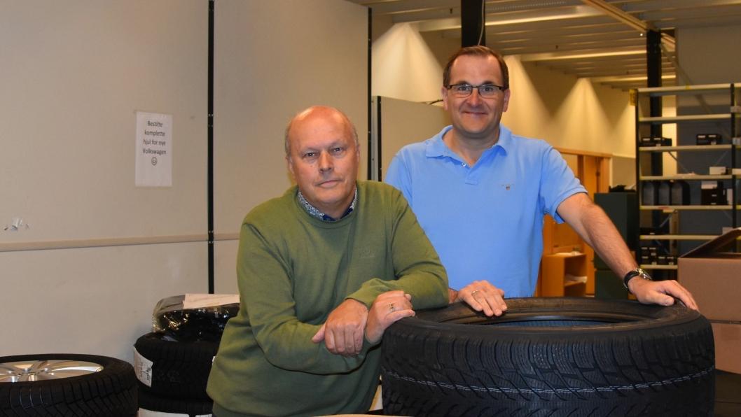 Arvid Knøsmoen (t.v.) og Tommy Skoda er sentrale personer i Møller Mobility Groups satsing på PDS
