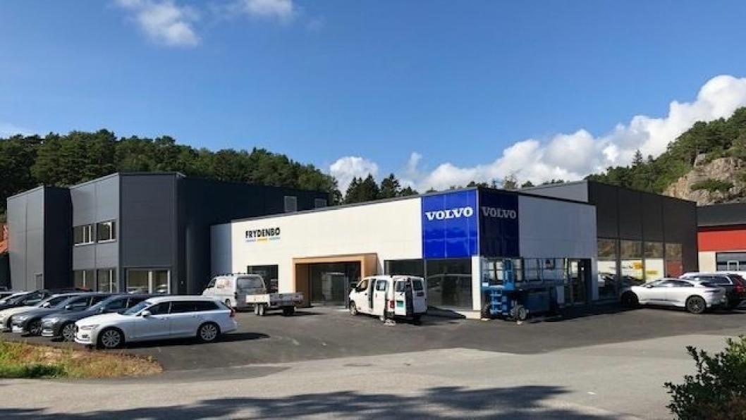 Frydenbø Bilsenter Mandals nye anlegg er på 1200 kvadratmeter åpner i  september.