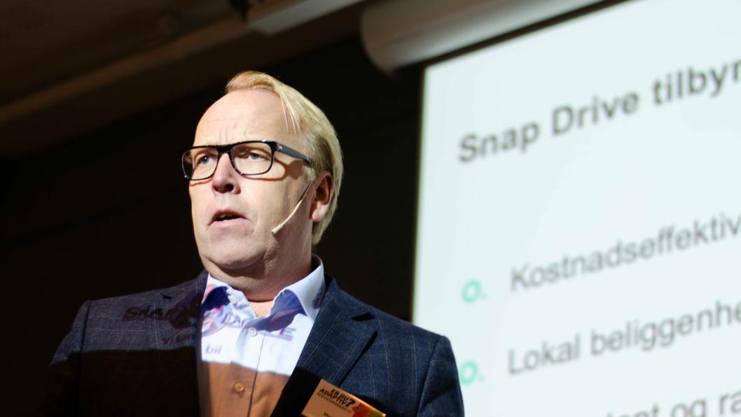 Morten Harsem er sjef for verkstedskjeden Snap Drive.