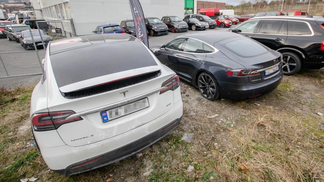 Tesla håndterer bare et fåtall av egne bruktbiler.