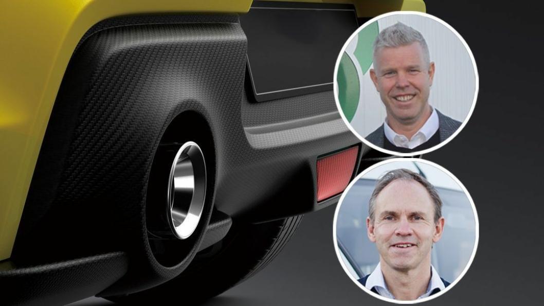 Subaru-sjef Torbjørn Lie (øverst) og RSA-sjef Frank Dunvold.