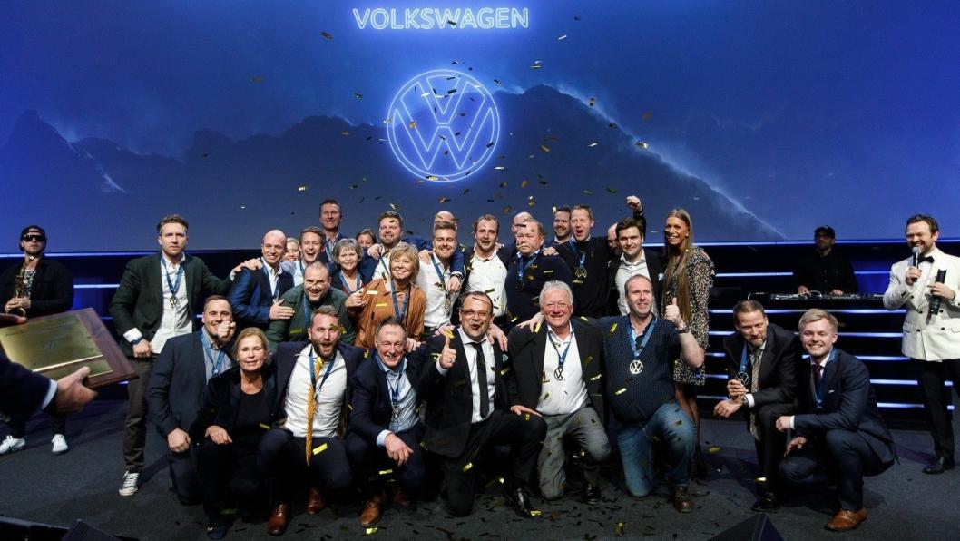 """Albjerk Bil Lier gikk til topps i kåringen av """"Årets Volkswagen-forhandler"""" i helgen."""