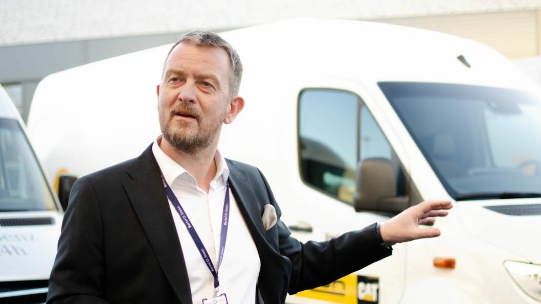 Marius Thorberg er daglig leder for det nye BOS-flaggskipet på Lørenskog. Han mener logistikkutfordringene lar seg løse med kreative metoder.