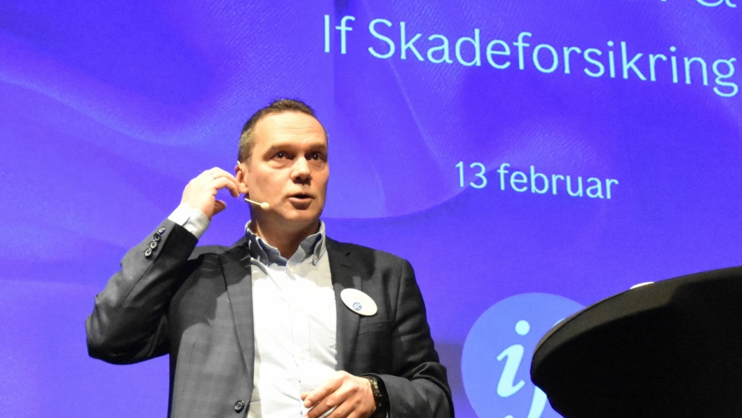 Vidar Brustad kom med klare budskap til deltagerne på Ifs skadekonferanse i dag.
