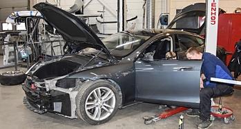 Rekordhøy skadefrekvens for elbiler