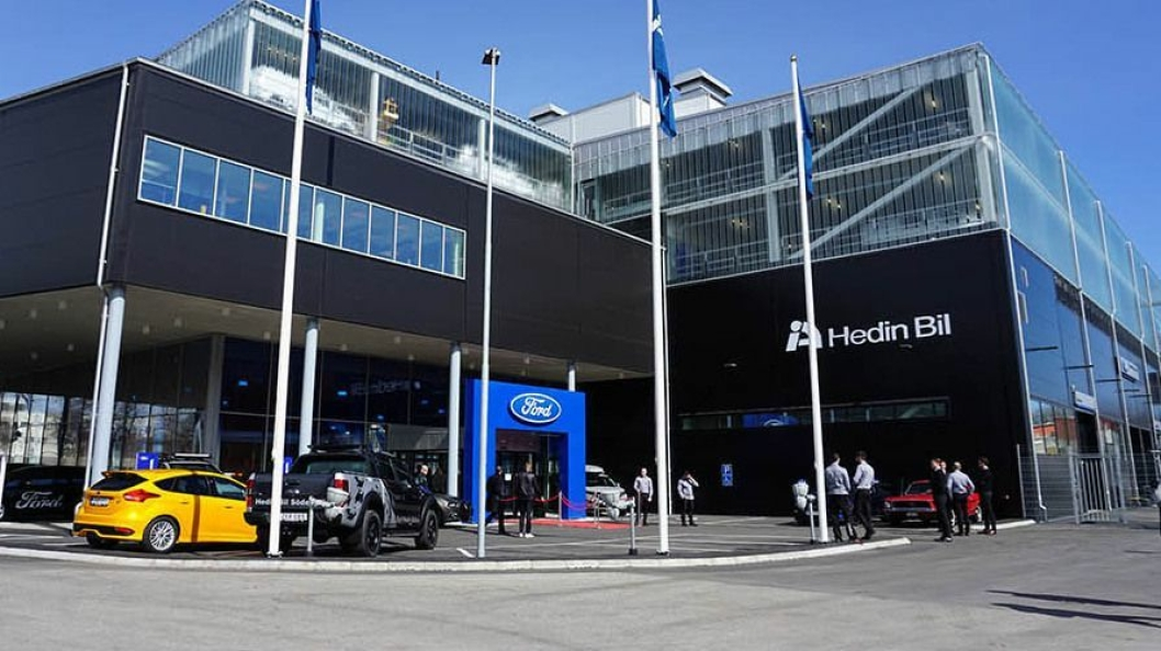 Hedin Bil selger i dag Ford fra åtte lokasjoner i Sverige.
