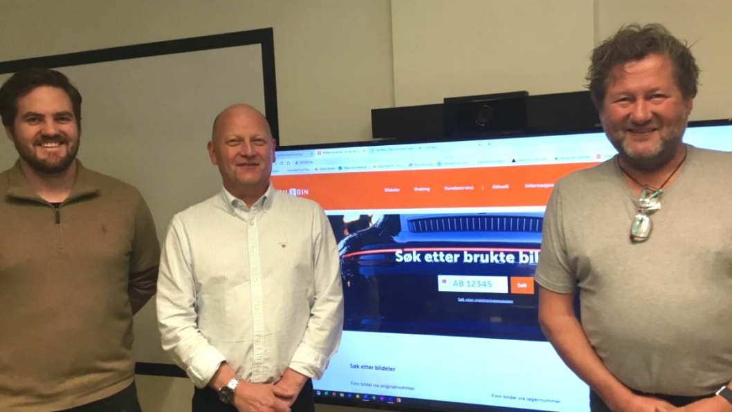 F. v.: Anders Greftegreff (daglig leder i Bil1Din), Petter Segtnan (daglig Leder i Retura IR) og Bjarne Brøndbo (styreformann i Bil1Din).