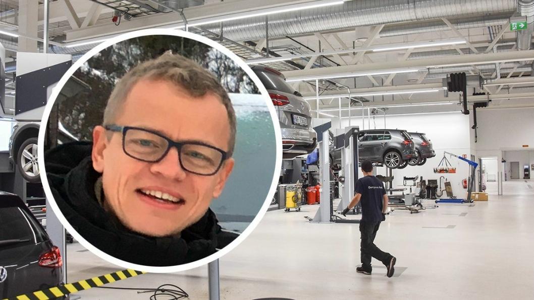 Erik Thoner er salgssjef for verksted- og servicetjenester i Harald A. Møller.