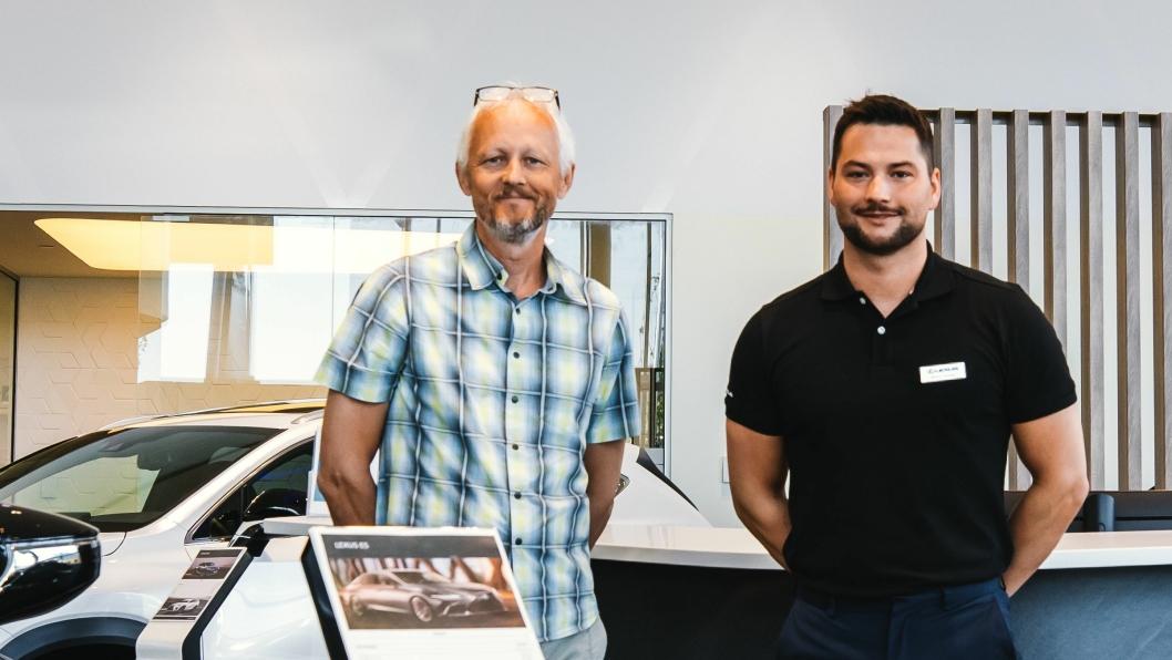 F. v.: Paal Skaalsvik (eiendomssjef i Nordvik Gruppen) og Morten Teksnes (salgssjef/brand manager Lexus Bodø).