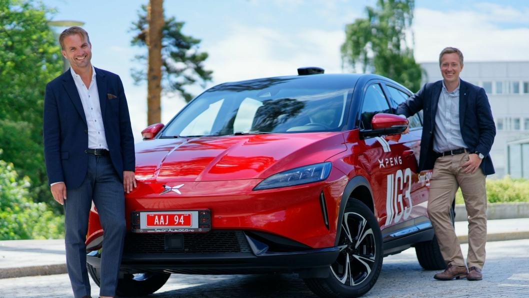 F. v.: Daglig leder i Zero Emission Mobility AS, Espen Strømme, og leder If Mobility, Anders Skalmerud Sørbo.