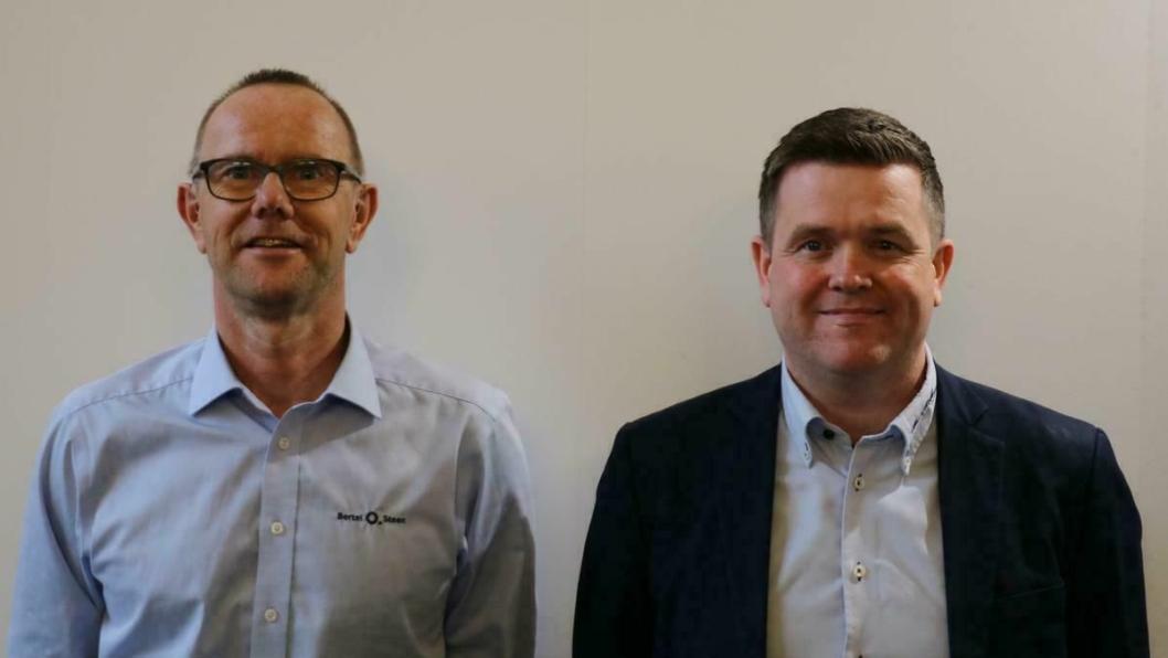 F.v.: Dag Nilsen (daglig leder, BOS Minde) og Per Henning Tvedten (salgs- og markedssjef, BOS Minde).