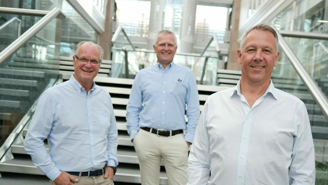 F. v.: Tom Berve, Trym Jørgenrud og Anders Gadsbøll.