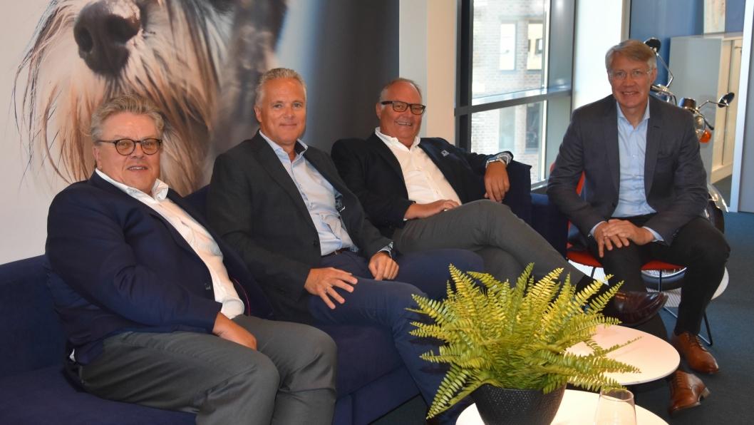 Fra venstre: Trond Vidar Sagen, Bengt Heggertveit, Petter Smebye og Roar Sollie.