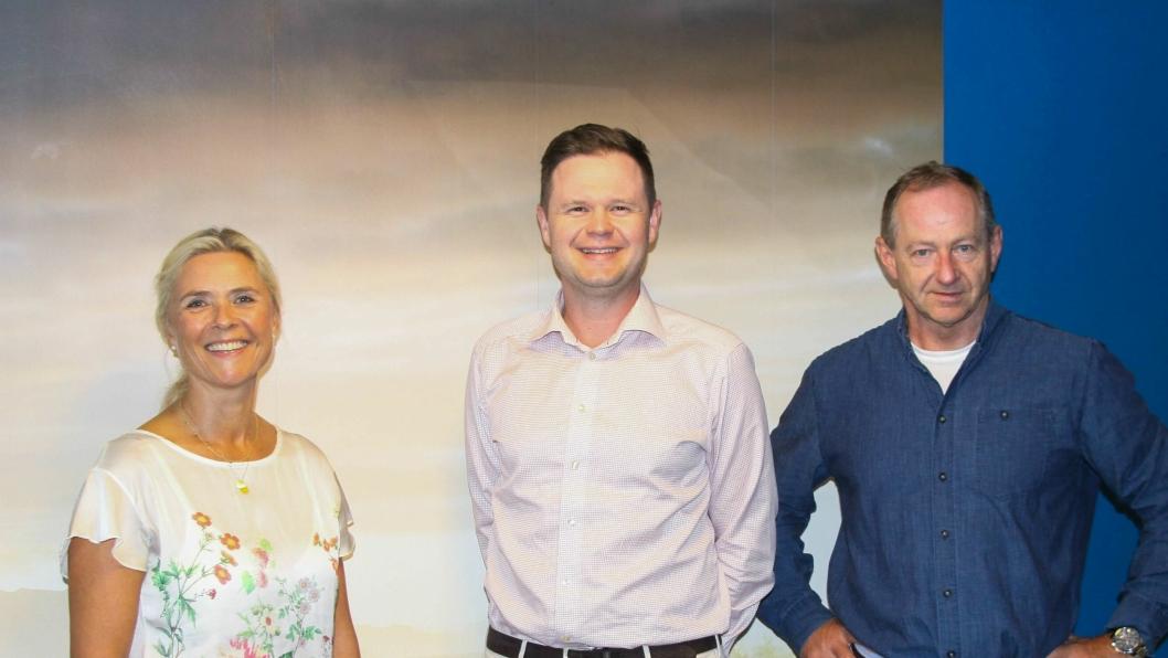 F. v.: Laila Mikalsen (salg- og markedsdirektør), Gustav Magnus Lundberg (salgssjef) og  Jan Petter Røssevold (markedssjef) i Opplysningsrådet for Veitrafikken.