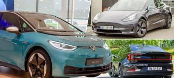 Løft i bilsalget: To nykommere blant topp tre i rekordmåned for elbilene