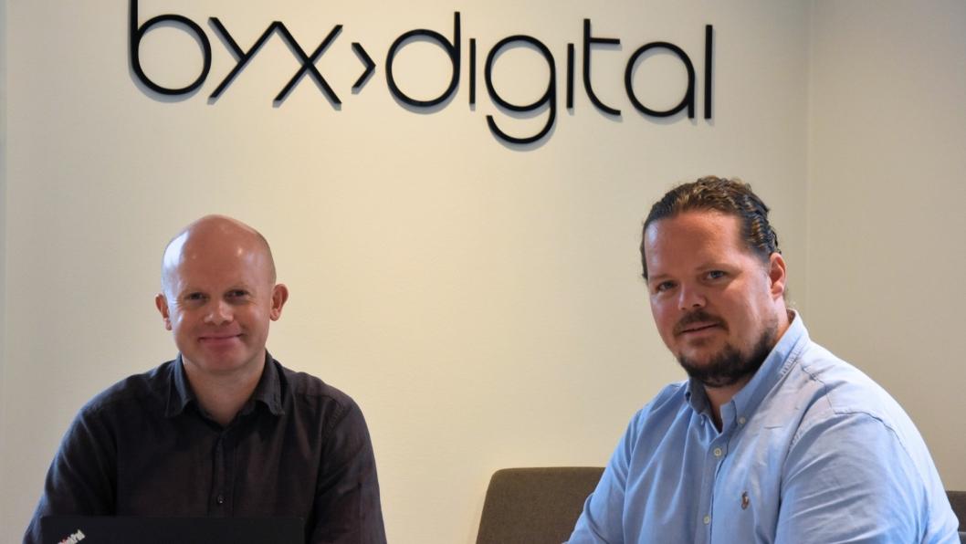 Bertel Svendsen (t.v.) og Andreas Bjørneby i Byx Digital AS.