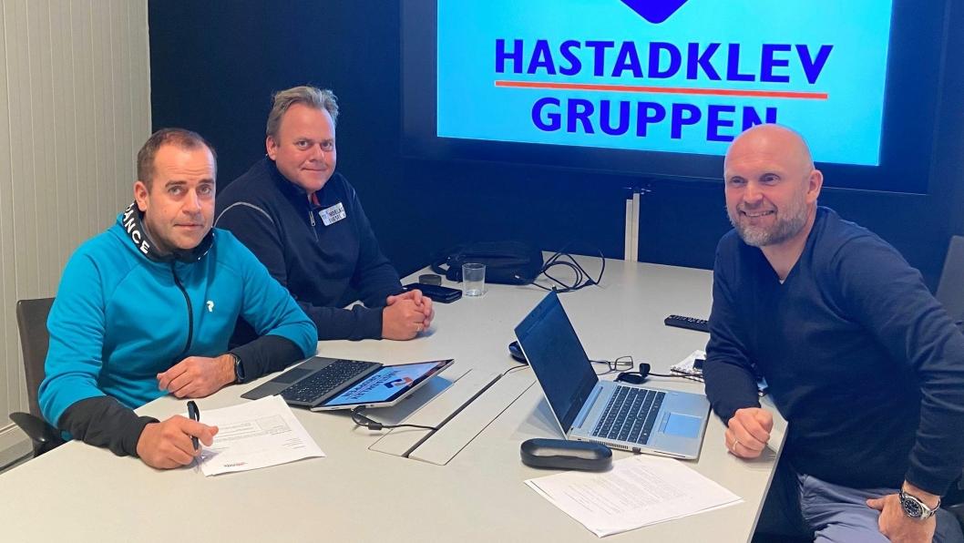 F. v.: Leif Anders Hastadklev, Jan Håvard Hastadklev og Morten Dyrberg.