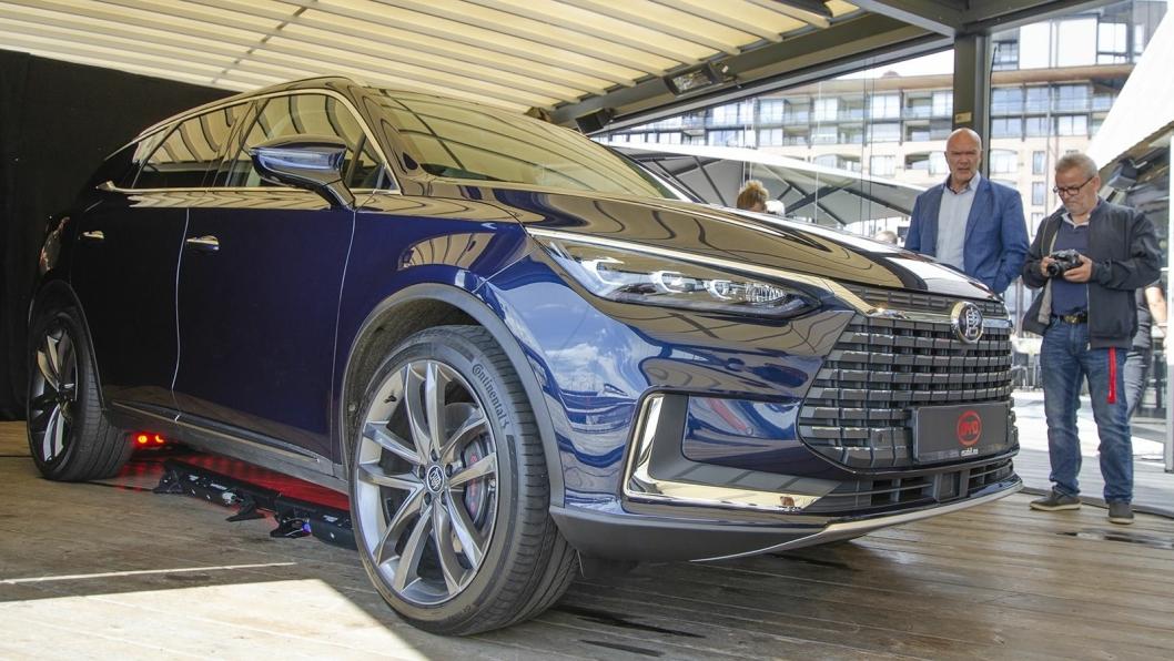 Den elektriske SUV-en BYD Tang blir merkets lanseringsmodell i Norge.