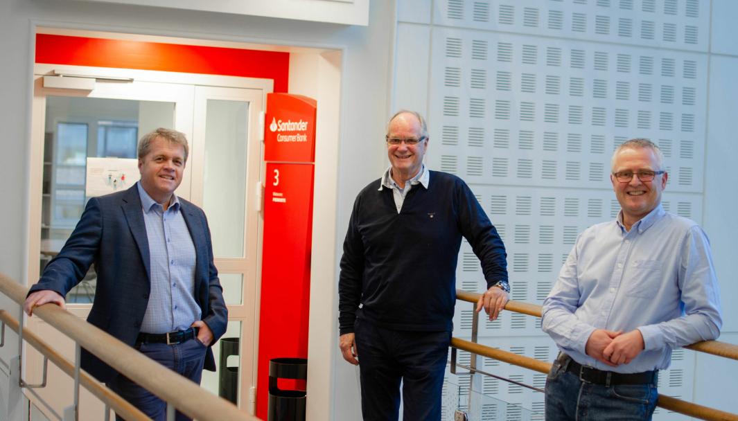F. v.: Bjørn Fredriksen, Tom Berve og Trym Jørgenrud.