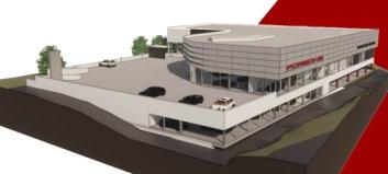 Slik blir Porsches nye Trondheims-anlegg