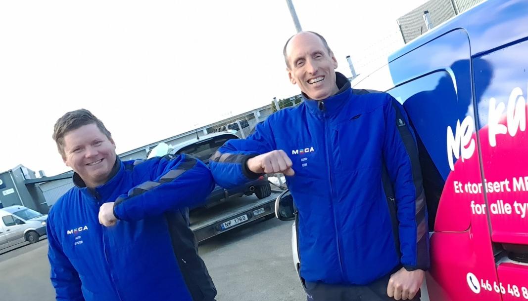 F. v.: Øystein Tollaksen (daglig leder) og Erik Kaldheim (verksmester).