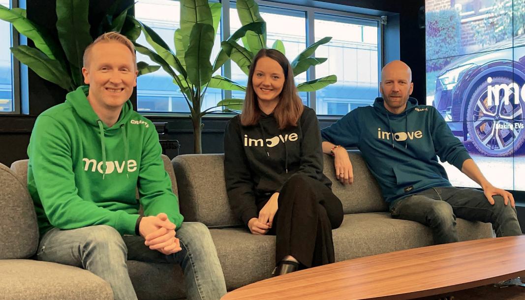 <em>F. v.: Hans Kristian Aas (co-founder og CEO), Jennifer Foldnes Einarsen (Head of International Expansion) og Gunnar Birkenfeldt (co-founder og CPO).</em>