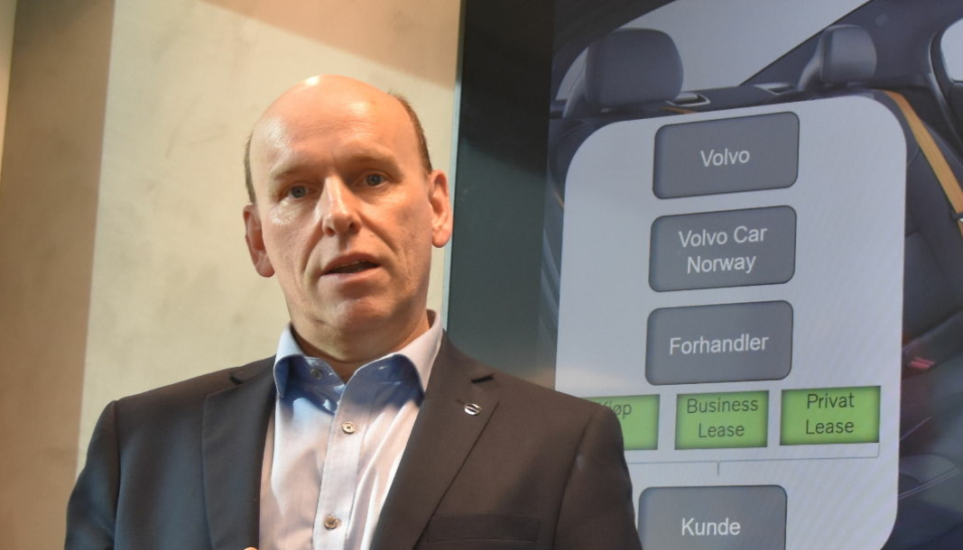 Daglig leder i Care by Volvo Car Norway AS, Hermod Wallestad. Click to add image caption