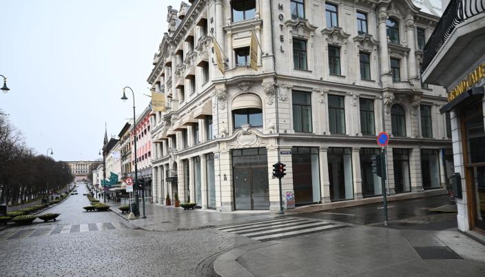 Nio-showroomet får eksponering både fra Karl Johans gate og Rosenkrantz' gate.