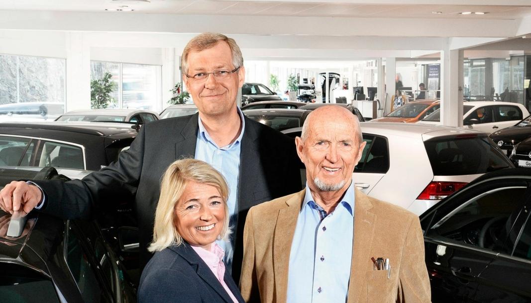<em>Nina Berit Gumpen Hansen, Per Helge Gumpen og Helge Gumpen.</em>
