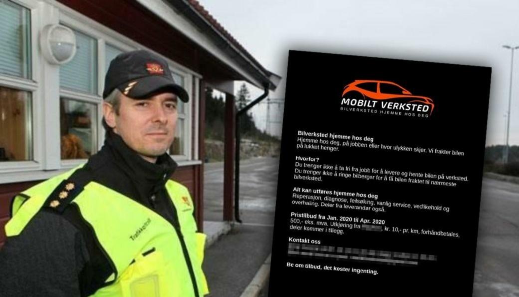 <em>Geir Mjøsund opplever at flere annonserer mobile verksted-tjenester på Facebook, uten at de har tillatelse til å gjøre arbeidet.</em>