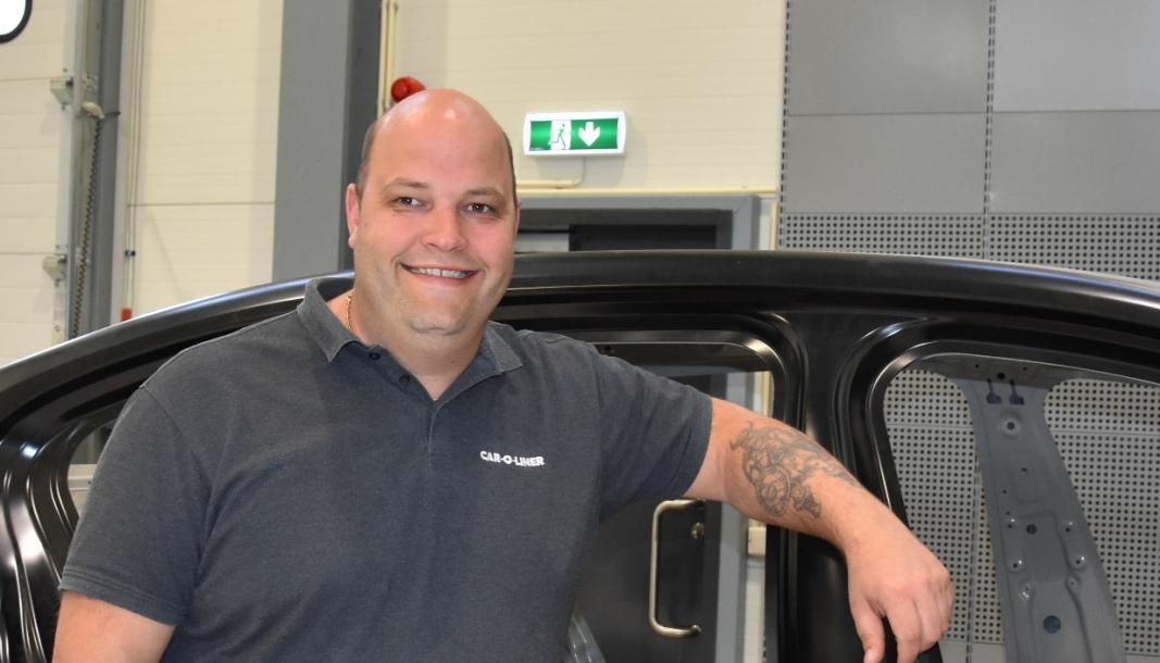 <em>Stian Goldeng, daglig leder i Car-O-Liner Norge, har planer om å tilby skadeverksted 02-kurs, men foreløpig er det mye som må på plass.</em>
