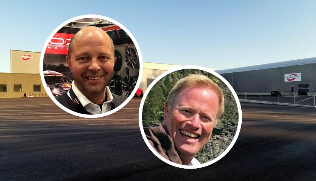 <em>F. v.: Avtroppende leder Arne Stangeland og påtroppende leder Ansgar Raastad.</em>