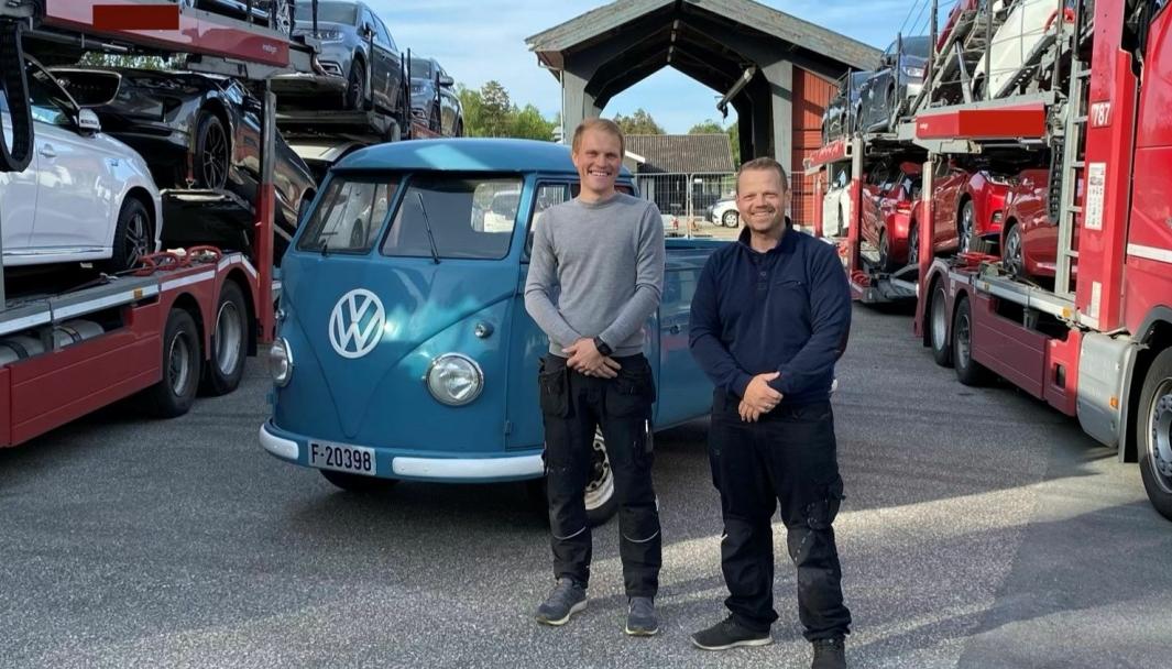 <em>F. v.: Joachim Haug og Øyvind Buer i Norcar AS.</em>