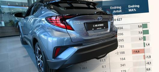 DNB og Toyota Finans øker kraftig i leasingmarkedet – disse går mest tilbake