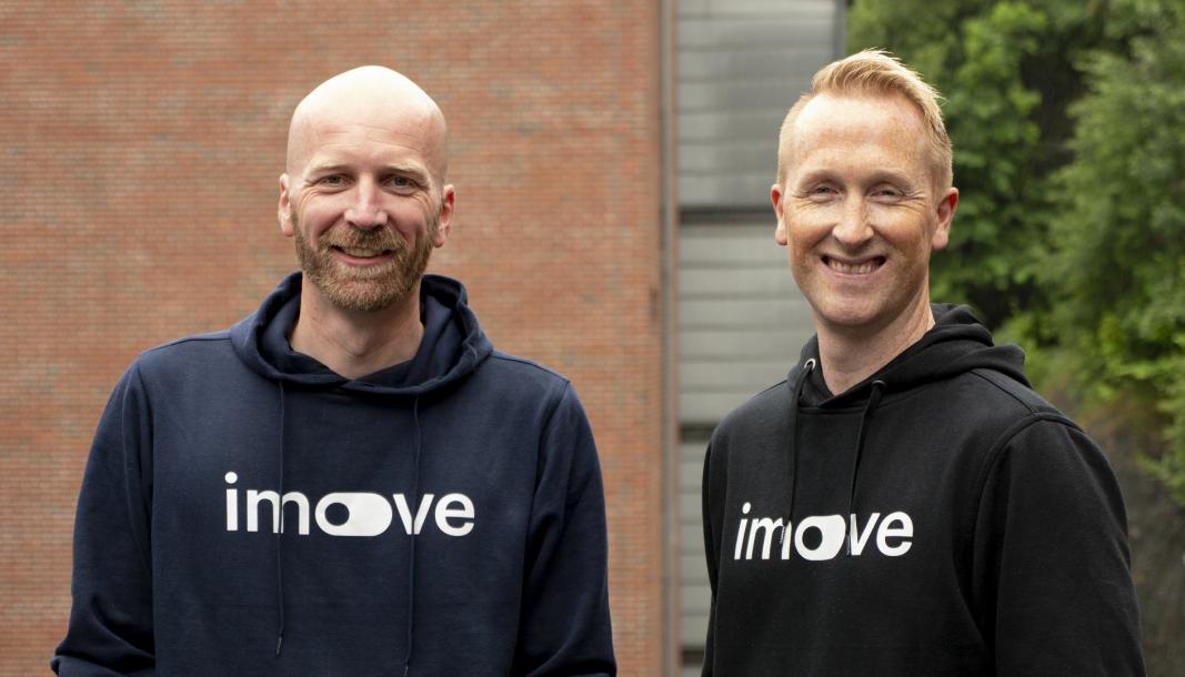 <em>F. v.: Med-gründerne Gunnar Birkenfeldt og Hans Kristian Aas i Imove.</em>