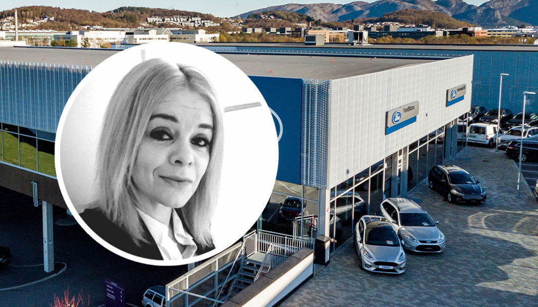 Cathrine Sundt er servicemarkedsdirektør for Ford i Kverneland Bil.