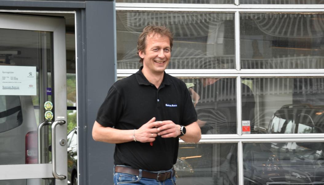 Eier og daglig leder i Sentrum Auto AS, Stein Martin Sørensen.