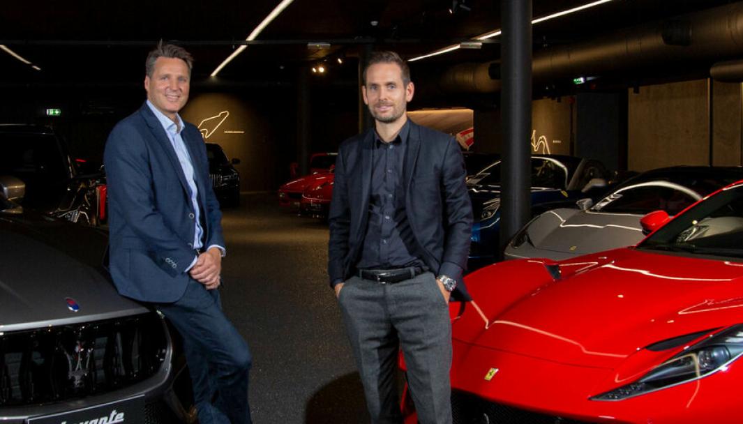 F. v.: Rune Brath, ny daglig leder i Autoxo Sport og Jesper Viskum Schak, adm. dir. i Formula Automobile.